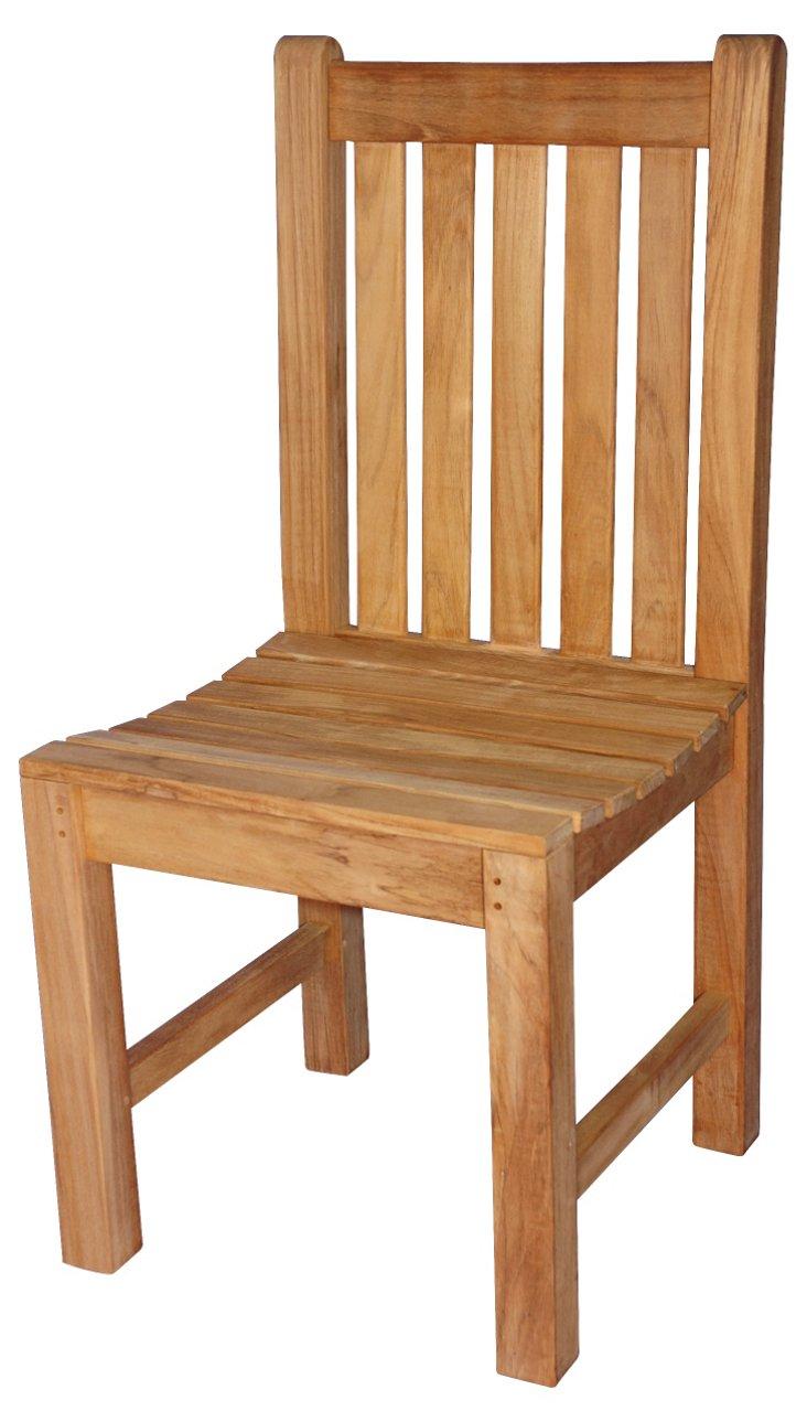 Teak Block Island Side Chair