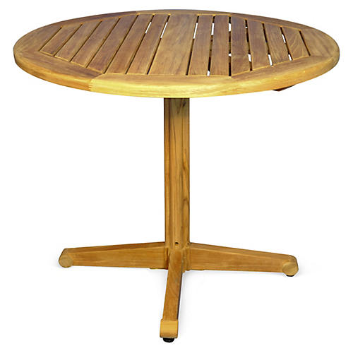 "Teak 36""Dia Pedestal Table"