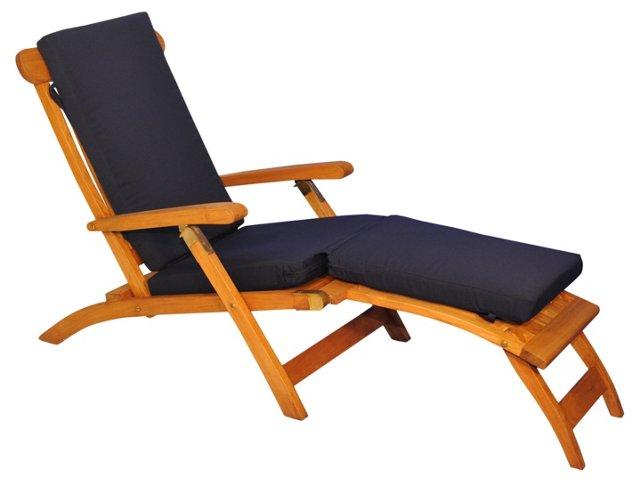 Devon Steamer Chair, Navy