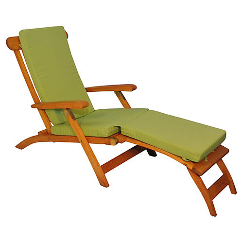 Devon Steamer Chair, Ginkgo Green