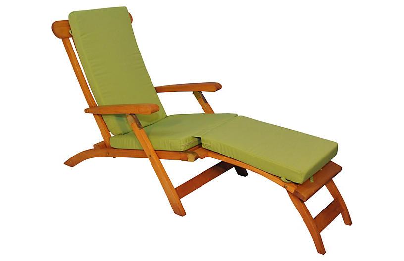 Devon Steamer Chair, Ginkgo Green