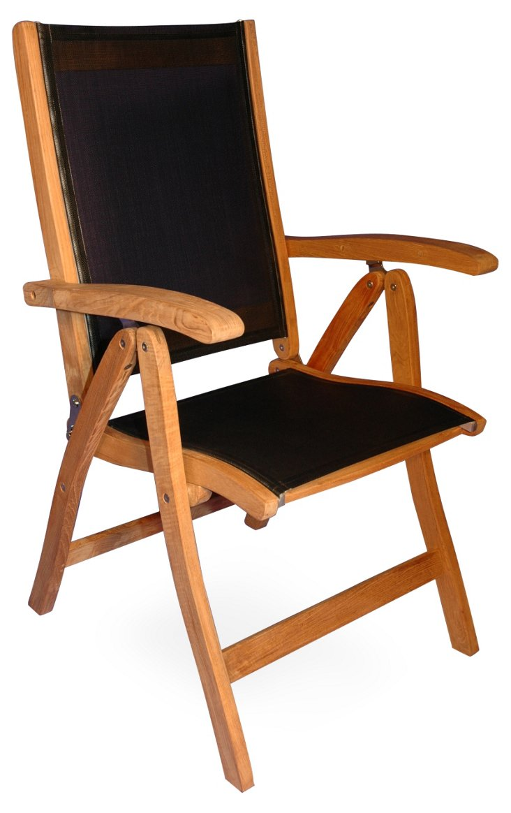 Watts Folding Armchair, Black