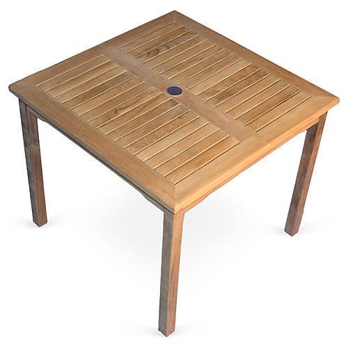 """48"""" Teak Square Table"""