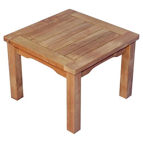 """Teak 20"""" Side Table, Natural"""