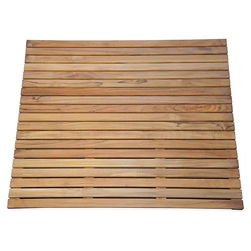 "26"" x 26"" Spa Teak Bath Mat"