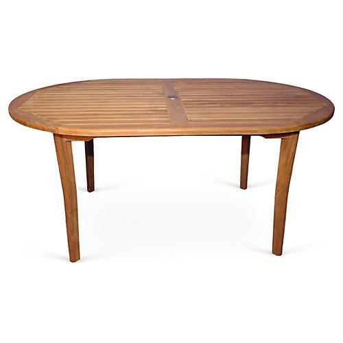 """Teak 67"""" Oval Table"""