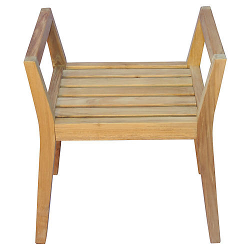 Teak Shower Bench w/ Arms