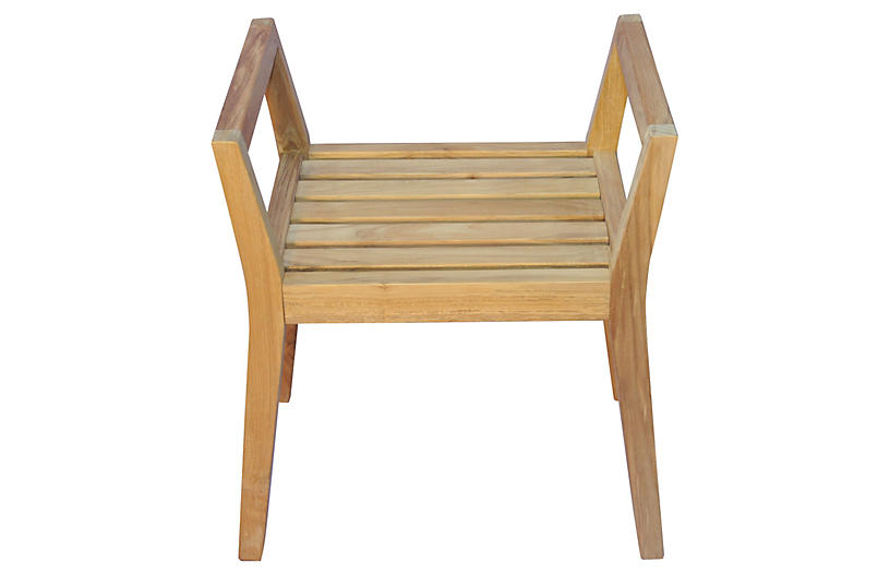 Teak Shower Bench with Arms - Regal Teak