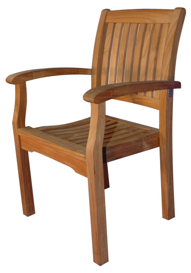 Teak Vineyard Stacking Chair