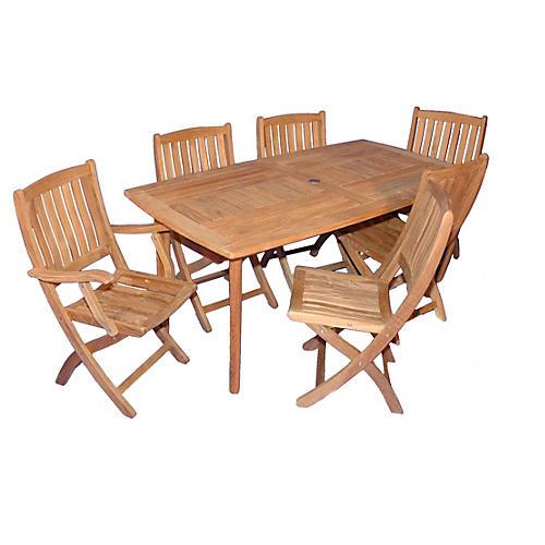 Nantucket Dining Set, Teak