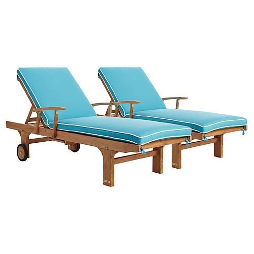 Aruba Sun Loungers, Pair