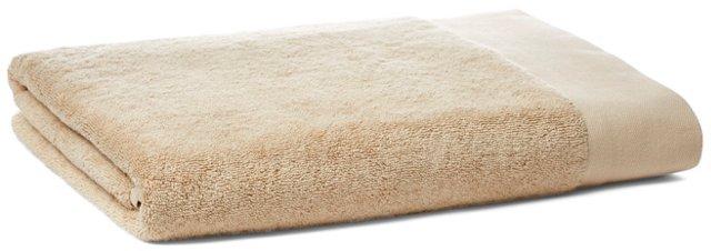 Dobby Border Bath Sheet, Fawn
