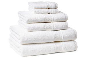 6-Pc Classic Towel Set, White