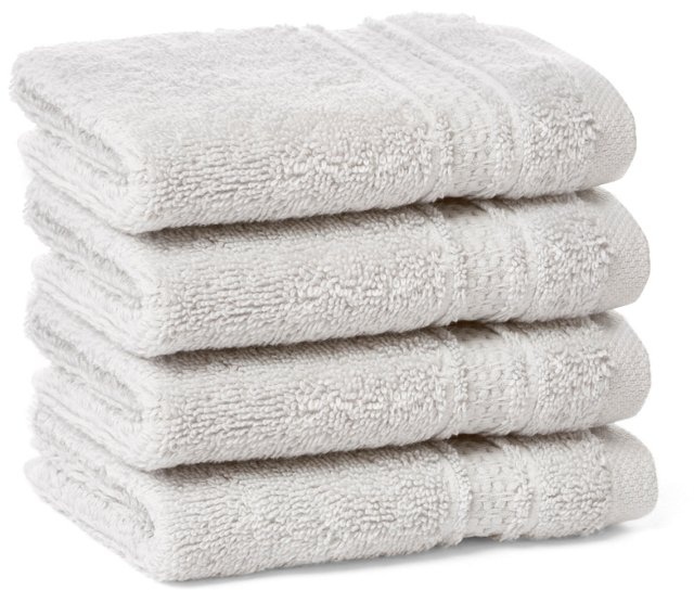 S/4 Classic Washcloths, Dove