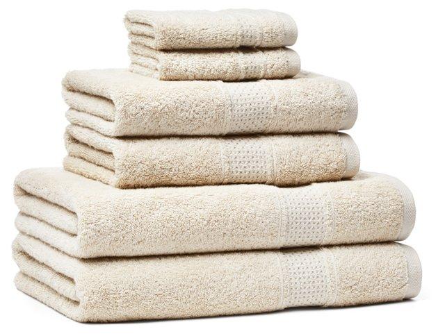 6-Pc Classic Towel Set, Natural