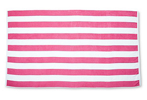 Cabana Stripe Beach Towel, Azalea/White