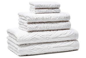6-Pc Nouveau Towel Set, White