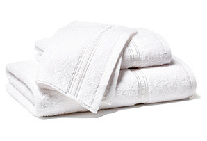 3pc Embroidered Hotel Towel Set, White