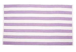 Cabana-Stripe Beach Towel, Purple