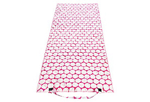 Beach Roll Up Mat, Big Dot Pink/White