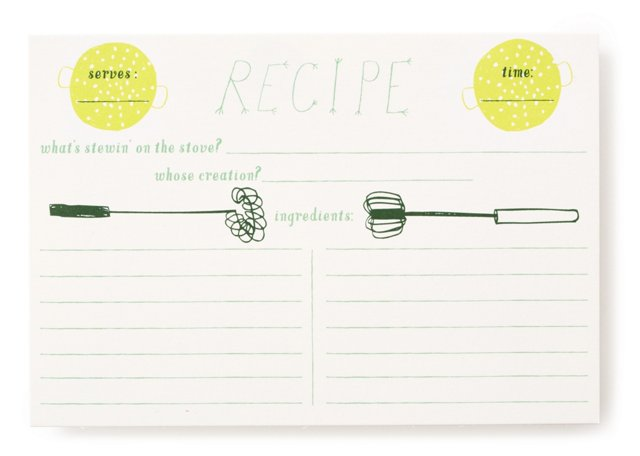S/24 Charlie's Colander Recipe Cards