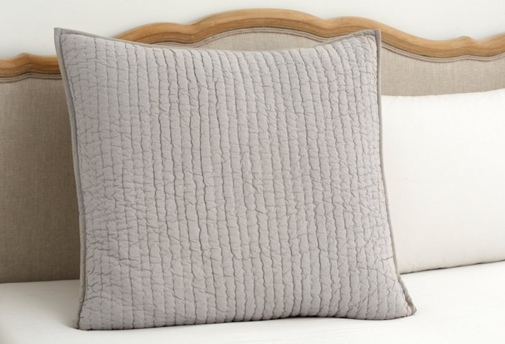Quilted Euro Sham, Gray