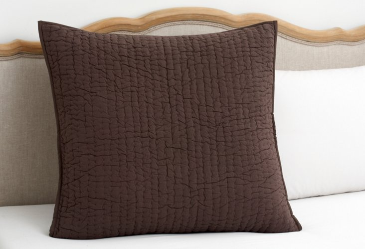 Quilted Euro Sham, Brown