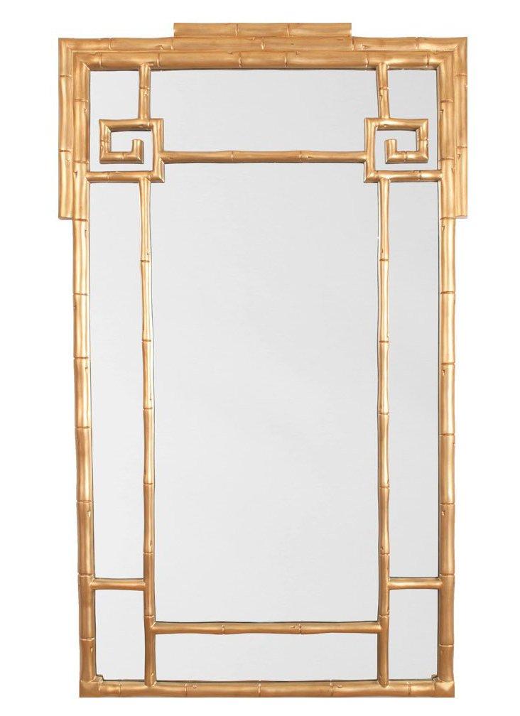 "Greek Key 50"" Mirror, Gold"