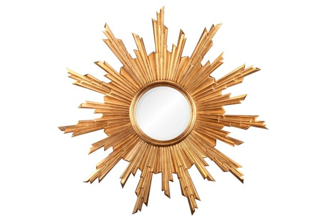 Sunburst Mirror II, Gold Leaf