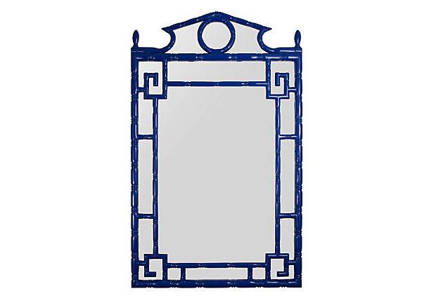 Pagoda Mirror, Navy Lacquer