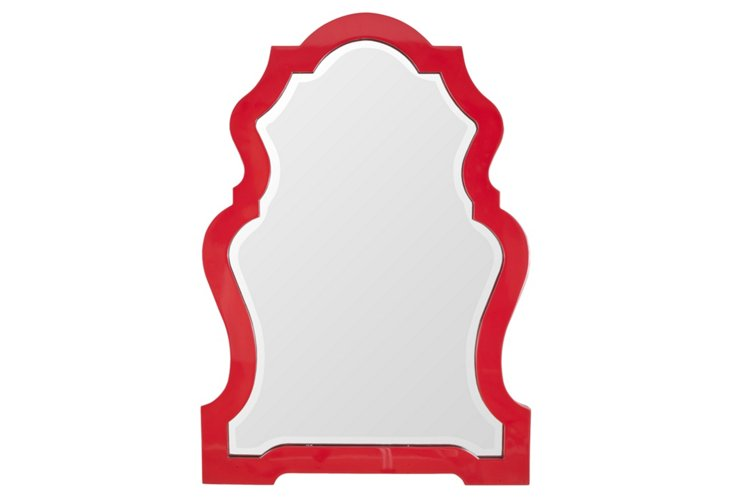 Grace Wall Mirror, Red