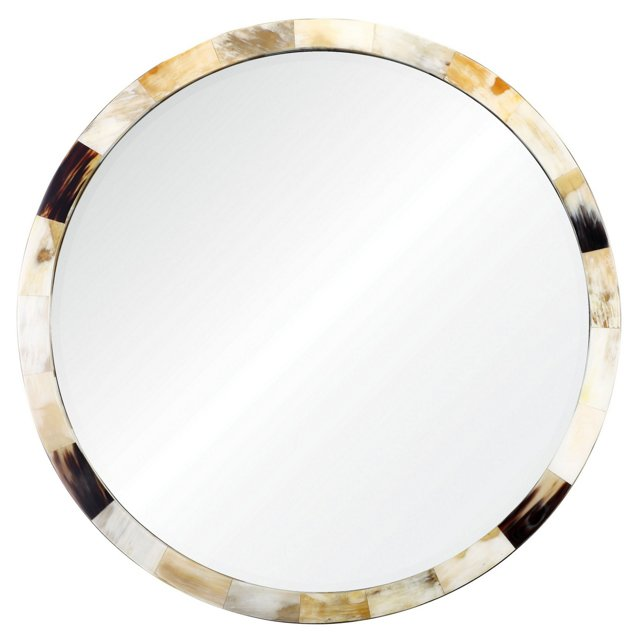 Neru Horn Wall Mirror, Natural