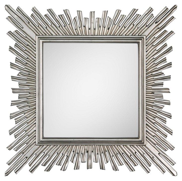 Silver Burst Mirror