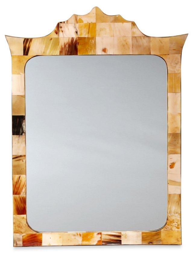 Winstead Horn Wall Mirror, Natural