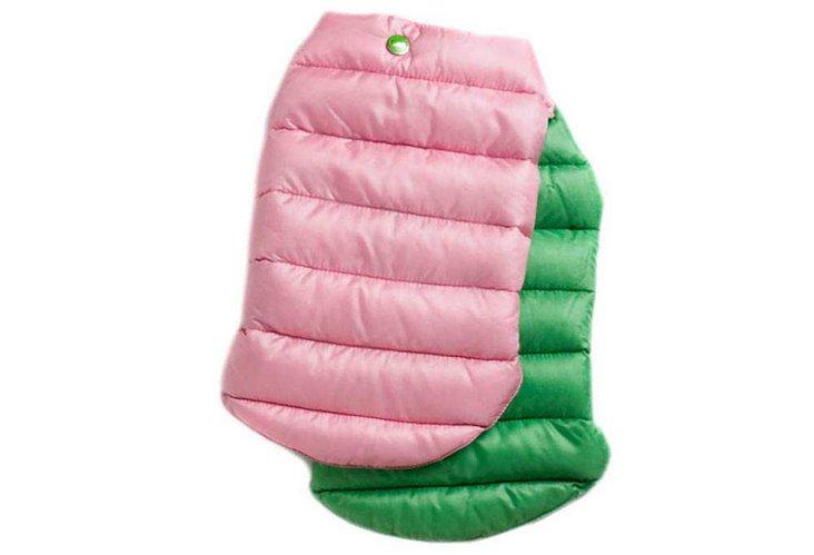Reversible Puffer Jacket, Pink/Green