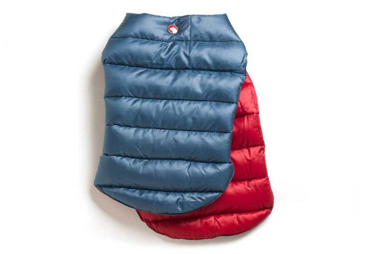 XXS Reversible Puffer Jacket, Navy/Red