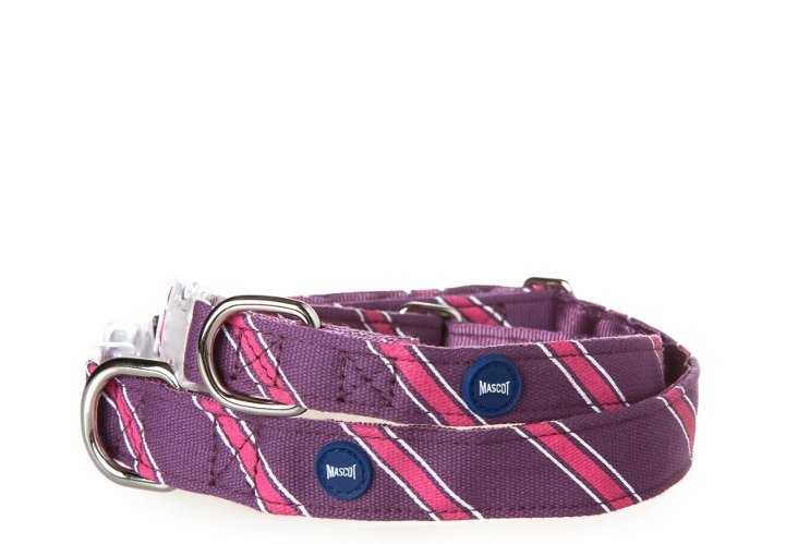 XL Old School Collar, Plum/Pink