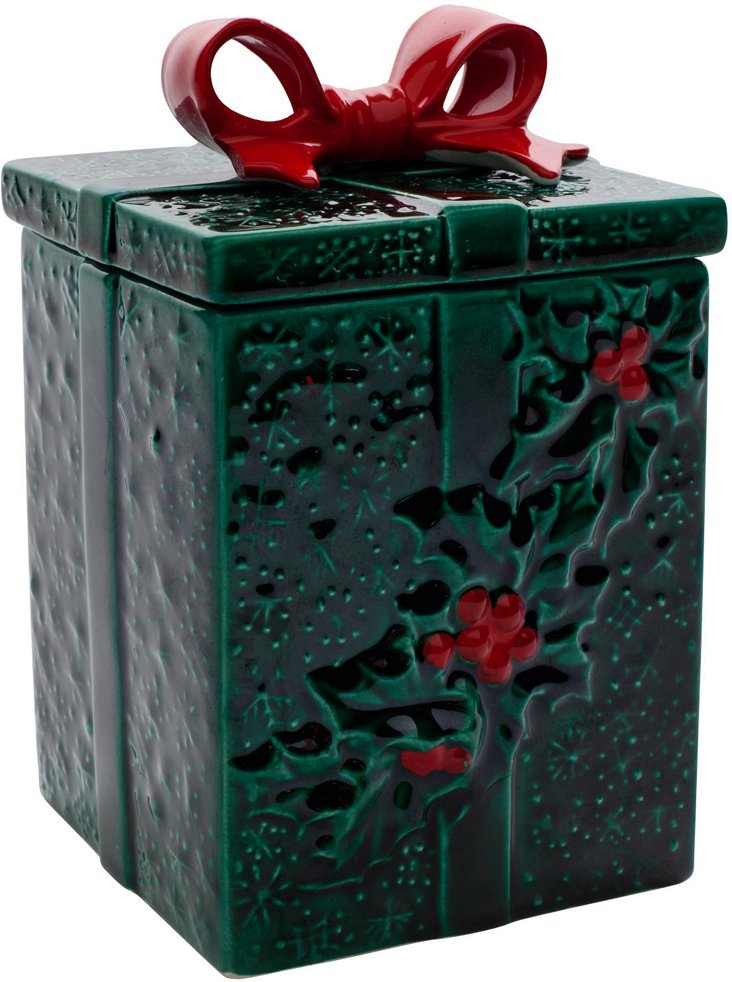 Holly Berry Bow Box Container I