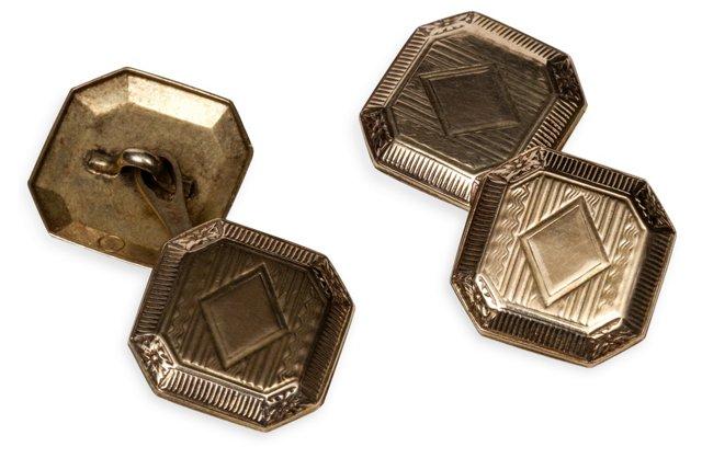 1920s Gold Cufflinks