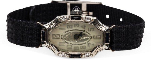 18K White Gold & Diamond Watch