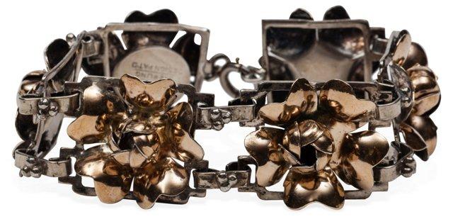Hobe Sterling w/ Gold Overlay Bracelet