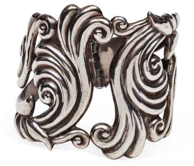 1940s Sterling Hinge Bracelet II
