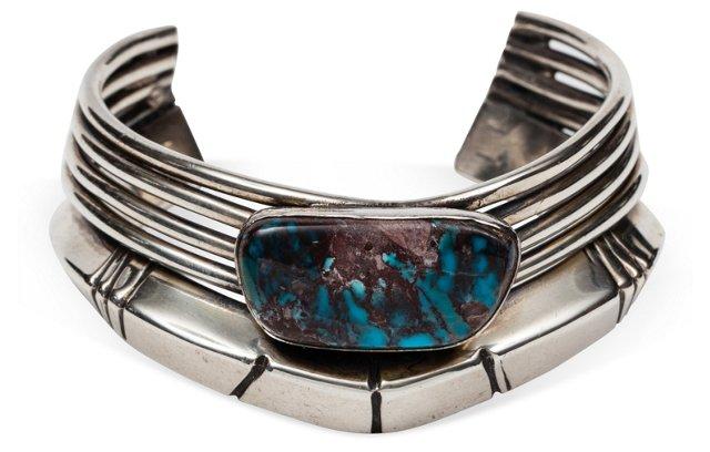 Massive Sterling & Turquoise Bracelet