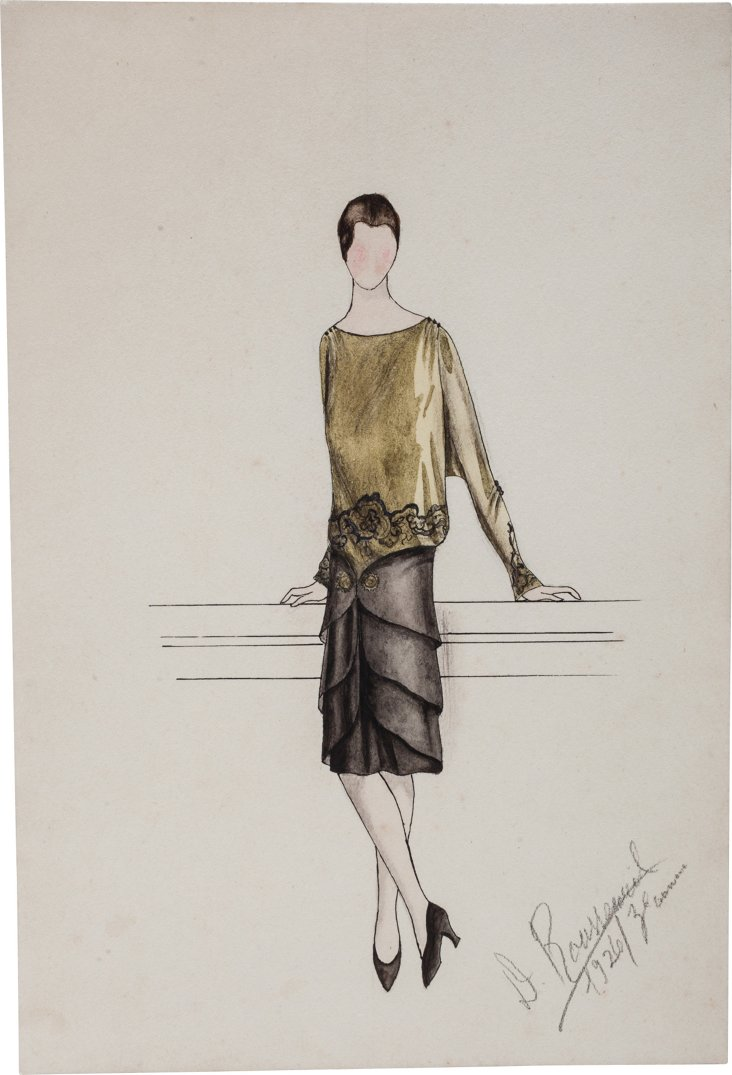 French Fashion Drawing, 1926, III
