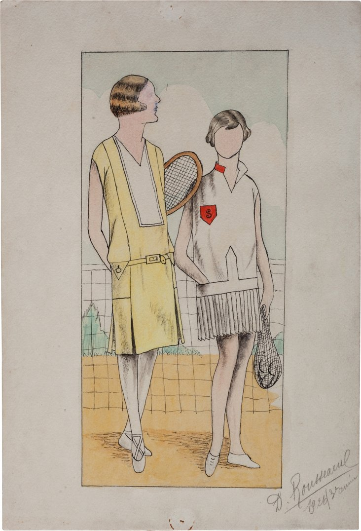 French Fashion Drawing, 1926, XV