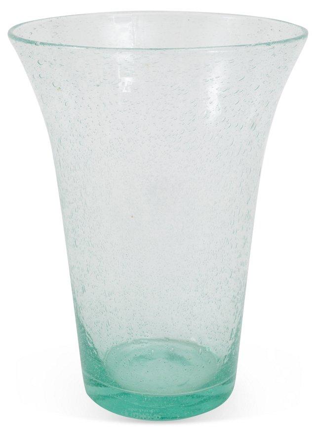 1980s Handblown Glass Vase