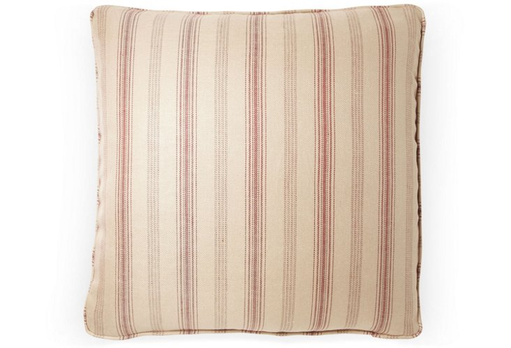Casey Stripe 20x20 Pillow, Red