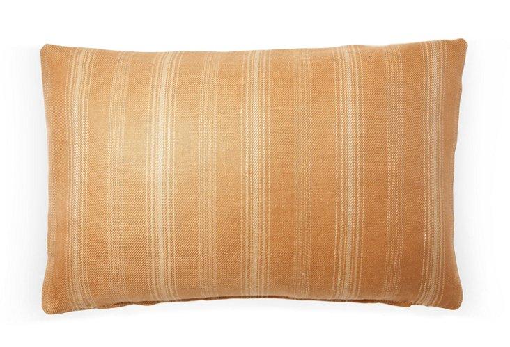 Casey Stripe 12x18 Pillow, Saffron
