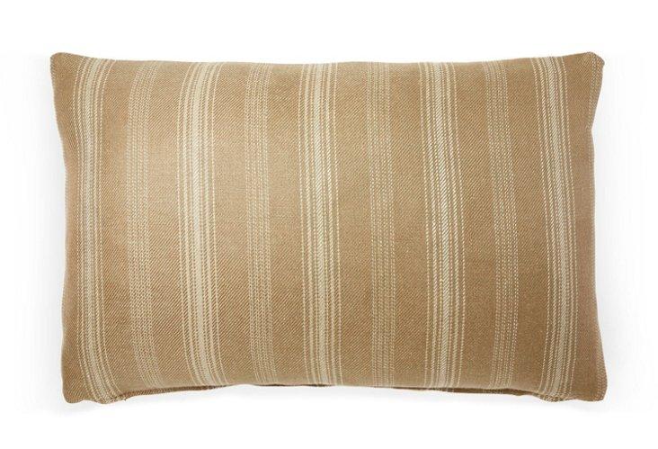 Casey Stripe 12x18 Pillow, Café