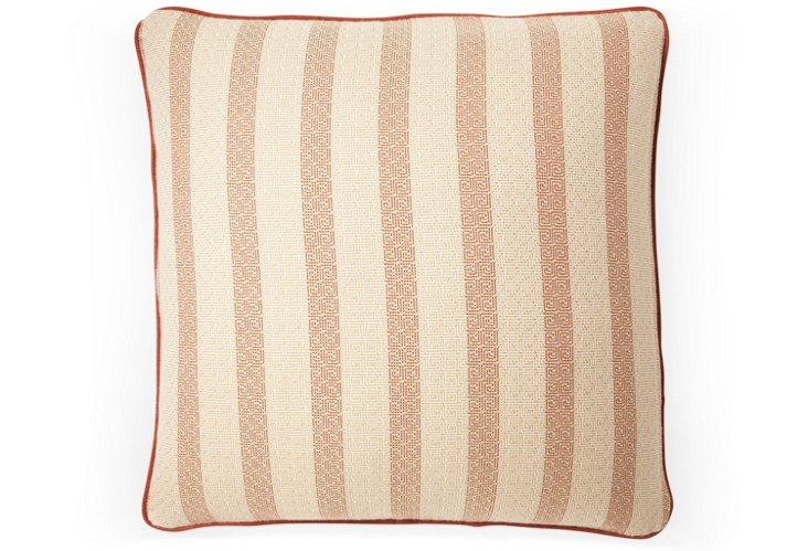 Meander 20x20 Pillow, Brick Red